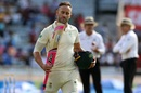 Faf du Plessis walks back after being dismissed, India v South Africa, 3rd Test, Ranchi, 3rd day, October 21, 2019