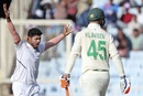 Umesh Yadav celebrates the wicket of Heinrich Klaasen, India v South Africa, 3rd Test, Ranchi, 3rd day, October 21, 2019