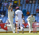 James Anderson dismisses Kraigg Brathwaite, West Indies v England, 3rd Test, St Lucia, 2nd day, February 10, 2019