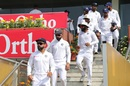 Virat Kohli leads the Indian team out for play, India v South Africa, 3rd Test, Ranchi, 4th day, October 22, 2019