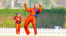 Roelof van der Merwe goes wild after winning another lbw appeal, Netherlands v Singapore, ICC Men's T20 World Cup Qualifier, Dubai, October 22, 2019