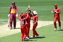 Wes Agar celebrates a wicket, Queensland v South Australia, Marsh Cup, Brisbane, October 23, 2019