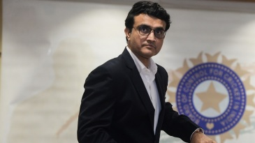 BCCI president Sourav Ganguly arrives for a press conference at the board's headquarters
