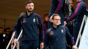James Vince and Eoin Morgan arrive in Christchurch with the England squad