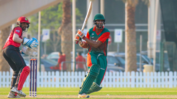 Irfan Karim pulls firmly behind square during his unbeaten 71