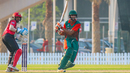 Irfan Karim pulls firmly behind square during his unbeaten 71, Kenya v Singapore, ICC Men's T20 World Cup Qualifier, Dubai, October 23, 2019