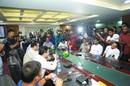 Shakib Al Hasan, Mahmudullah, Tamim Iqbal and Mushfiqur Rahim at a meeting with the BCB top brass