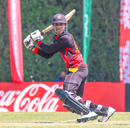 Charles Amini cuts behind point for a boundary, Netherlands v Papua New Guinea, ICC Men's T20 World Cup Qualifier, Dubai, October 24, 2019