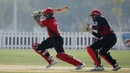 Kinchit Shah plays on the off side, Canada v Hong Kong, T20 World Cup qualifiers, Tolerance Oval, October 24, 2019