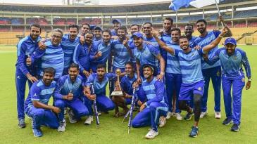 The victorious Karnataka team