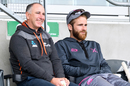 Gary Stead and Kane Williamson watch on during Northern Districts' game with Canterbury, Hagley Oval, October 24, 2019