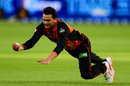 Usman Qadir takes a diving catch, Perth Scorchers v Sydney Sixers, BBL, Perth, January 13, 2019