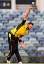Andrew Tye in his delivery stride, Western Australia v Tasmania, Marsh Cup, WACA, September 25, 2019