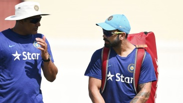 Anil Kumble in conversation with Virat Kohli