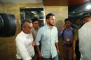 Shakib Al Hasan walks into the press conference, Dhaka, October 29, 2019