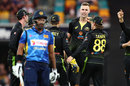 Billy Stanlake after taking a wicket, Australia v Sri Lanka, 2nd T20I, Brisbane, October 30, 2019