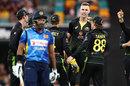 Billy Stanlake after taking a wicket, Australia v Sri Lanka, 2nd T20I, Brisbane, October 30, 2019