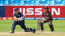 George Munsey gets out the reverse sweep early to clear backward point for six, UAE v Scotland, ICC Men's T20 World Cup Qualifier playoff, Dubai, October 30, 2019