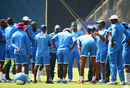 Phil Simmons talks to the West Indies team at practice ahead of the match, India v West Indies, World T20 2016 semi-final, Mumbai, March 30, 2016