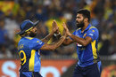 Lahiru Kumara was rewarded for some lively bowling, Australia v Sri Lanka, 3rd T20I, Melbourne, November 1, 2019