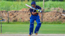 Akshay Homraj bats during a USA squad trial match in Texas, Pearland, June 21, 2018