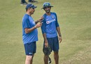 Head coach Ravi Shastri and batting coach Vikram Rathour have a chat, Delhi, November 1, 2019