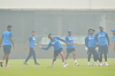 The Indian team trains in hazy conditions, Delhi, November 1, 2019