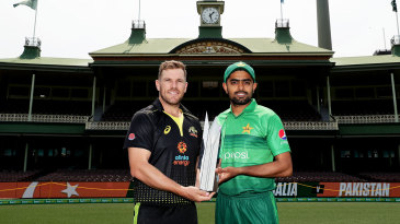 Aaron Finch and Babar Azam ahead of the T20I series