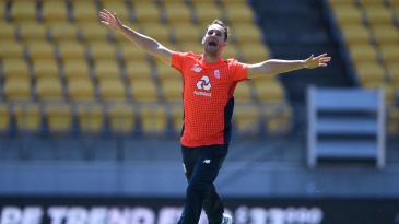 Lewis Gregory struck with his first ball in international cricket
