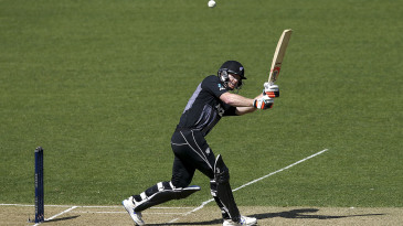 Jimmy Neesham whips one into the leg side