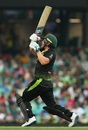 Aaron Finch mows one away, Australia v Pakistan, 1st T20I, Sydney, November 3, 2019