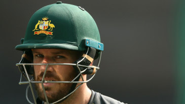 Aaron Finch was not happy after the washout at the SCG