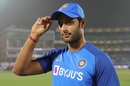 Shivam Dube was handed his India cap ahead of the first T20I, India v Bangladesh, 1st T20I, Delhi, November 3, 2019