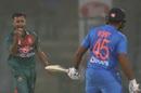 Shafiul Islam celebrates Rohit Sharma's wicket, India v Bangladesh, 1st T20I, Delhi, November 3, 2019