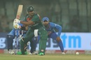 Soumya Sarkar plays the reverse sweep, India v Bangladesh, 1st T20I, Delhi, November 3, 2019