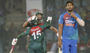 Mushfiqur Rahim and Mahmudullah celebrate Bangladesh's win, India v Bangladesh, 1st T20I, Delhi, November 3, 2019