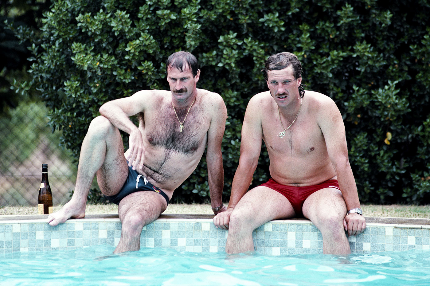 What today's fast bowlers wouldn't do to enjoy a day by the pool at a winery in the middle of a Test