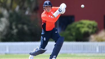 Tom Banton bats during the tour match between a New Zealand XI and England