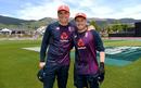 Tom Banton and Matt Parkinson presented with their England caps, New Zealand v England, 3rd T20I, Nelson, November 5, 2019