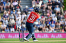 Lewis Gregory was bowled for a two-ball duck, New Zealand v England, 3rd T20I, Nelson, November 5, 2019