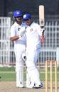 Umar Akmal raises his bat after reaching his fifty, Central Punjab v Northern, Quaid-e-Azam Trophy 2019-20, 1st day, Faisalabad, November 4, 2019