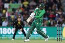 Haris Sohail fell to another leg-side heave, Australia v Pakistan, 2nd T20I, Canberra, November 5, 2019