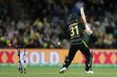 David Warner's stumps were left in a mess by Mohammad Amir, Australia v Pakistan, 2nd T20I, Canberra, November 5, 2019