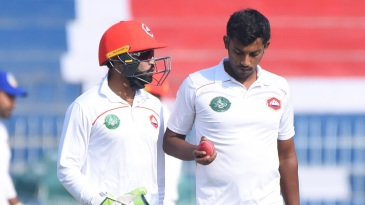 Raza Hasan gets instructions from Jamal Anwar