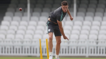 Morne Morkel sends one down at training