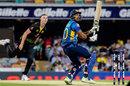 Danushka Gunathilaka hits one behind the wicket, Australia v Sri Lanka, 2nd T20I, Brisbane, October 30, 2019