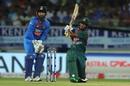 Mohammad Naim plays a slog sweep, India v Bangladesh, 2nd T20I, Rajkot, November 7, 2019
