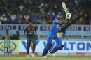 Shikhar Dhawan flicks one on the leg side, India v Bangladesh, 2nd T20I, Rajkot, November 7, 2019