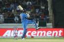 Rohit Sharma plays a pull on one leg, India v Bangladesh, 2nd T20I, Rajkot, November 7, 2019