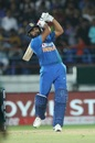 Rohit Sharma lofts one down the ground, India v Bangladesh, 2nd T20I, Rajkot, November 7, 2019